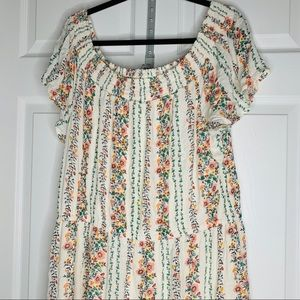 Old navy xxl gathered waist maxi dress
